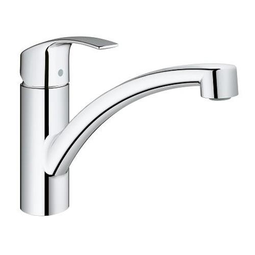 Grohe Eurosmart 1/2 Inch Single Lever Sink Mixer with 140 Degree Swivel Range - Unbeatable Bathrooms