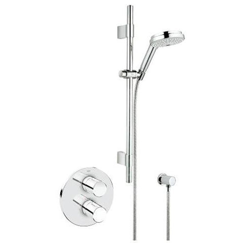Grohe Grohtherm 1/2 Inch Cosmopolitan Thermostatic Shower Mixer - Unbeatable Bathrooms