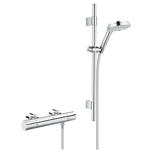 Grohe Grohtherm 1/2 Inch Cosmopolitan Thermostatic Shower Mixer Set - Unbeatable Bathrooms