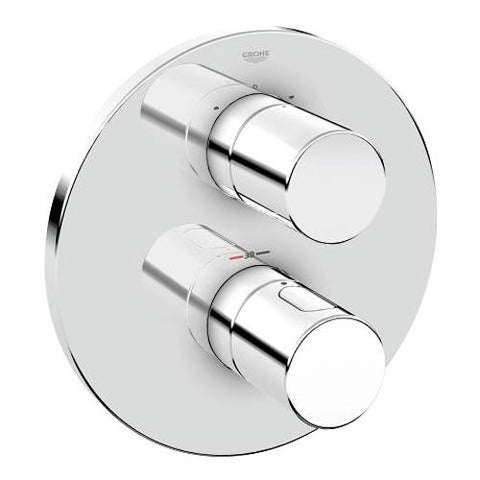 Grohe Grohtherm Cosmopolitan Single Lever Thermostat with Integrated 2 Way Diverter for Bath or Shower and More Than One Outlet - Unbeatable Bathrooms