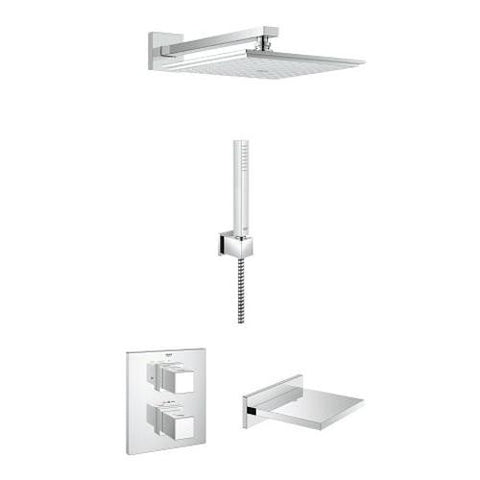 Grohe Grohtherm Cube Bath or Shower Solution Pack 5 - Unbeatable Bathrooms