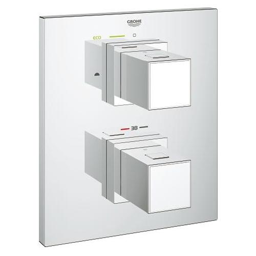 Grohe Grohtherm Cube Thermostat with Integrated 2 Way Diverter for Bath or Shower and More Than One Outlet - Unbeatable Bathrooms