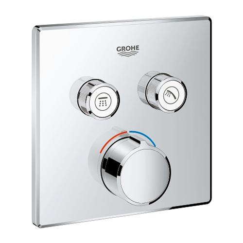 Grohe Grohtherm Smartcontrol Concealed Mixer with 2 Valves - Unbeatable Bathrooms