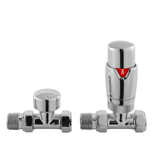 Hudson Reed Straight Luxury Thermostatic Radiator Valves - Unbeatable Bathrooms