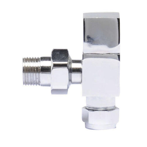 Hudson Reed Pure Square Radiator Valves Pack Angled pairs - Unbeatable Bathrooms