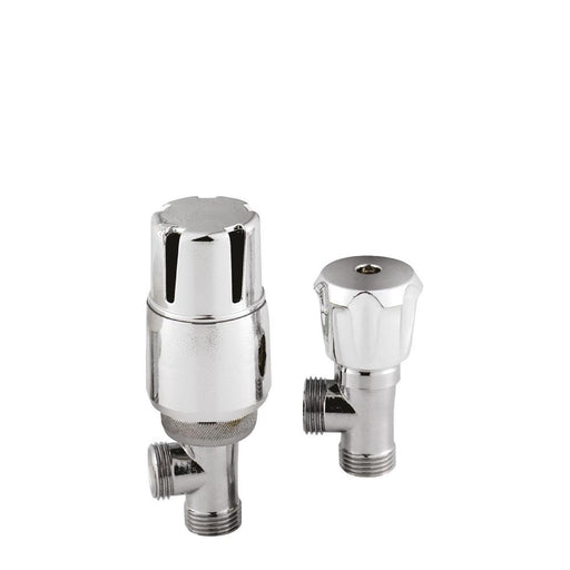 Hudson Reed Angled Thermostatic Radiator Valve Pack - Unbeatable Bathrooms
