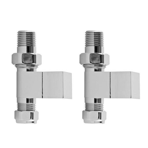 Hudson Reed Pure Square Radiator Valve Pack Straight - Unbeatable Bathrooms