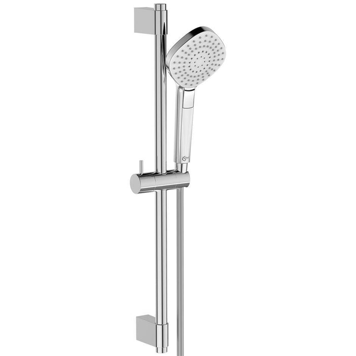Ideal Standard Idealrain Evo shower kit with 3 function diamond 110mm handspray, rail and 1.75m Idealflex hose - Unbeatable Bathrooms
