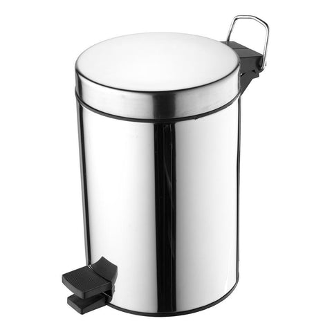 Ideal Standard IOM pedal waste bin 3L - stainless steel - Unbeatable Bathrooms