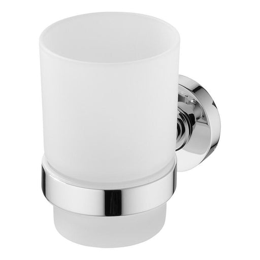 Ideal Standard IOM tumbler and holder - frosted glass/chrome - Unbeatable Bathrooms
