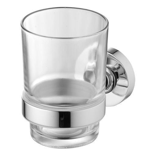 Ideal Standard IOM tumbler and holder - transparent glass/chrome - Unbeatable Bathrooms