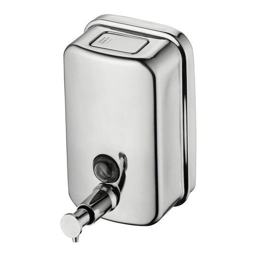 Ideal Standard IOM wall mounted soap dispenser 500ml - stainless steel - Unbeatable Bathrooms