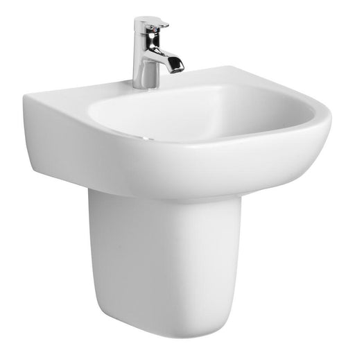 Ideal Standard Jasper Morrison 50cm pedestal basin, no overflow - one taphole - Unbeatable Bathrooms