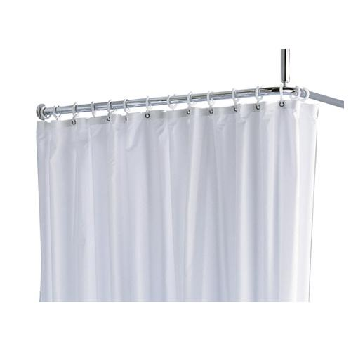 Keuco Plan Shower Curtain Plan with White Curtain Rings 14944 - Unbeatable Bathrooms