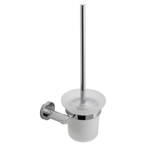 Vado Toilet Brush & Frosted Glass Holder - Unbeatable Bathrooms