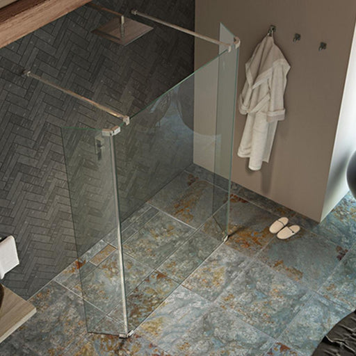 Kudos Ultimate2 8mm Wetroom 255mm Fixed Deflector Panel - Unbeatable Bathrooms