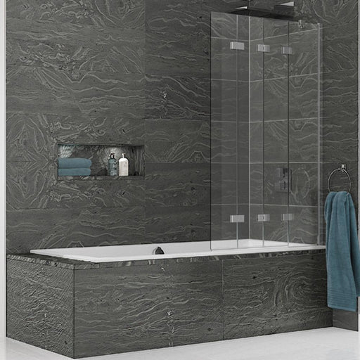 Kudos Inspire Four Panel In-Fold Bath Screen - Unbeatable Bathrooms