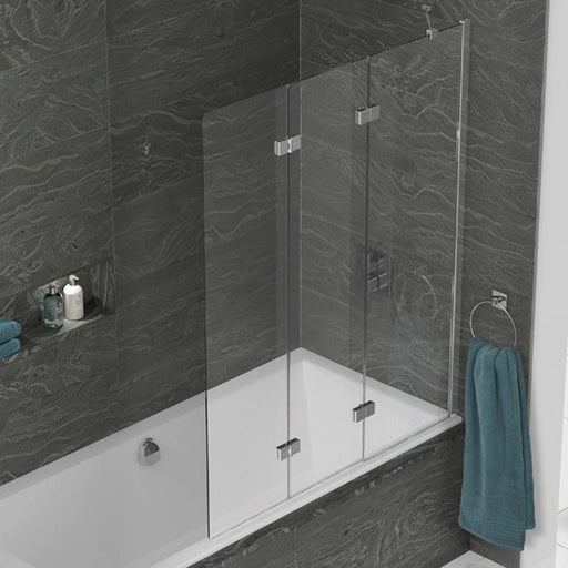 Kudos Inspire Three Panel In-Fold Bath Screen - Unbeatable Bathrooms