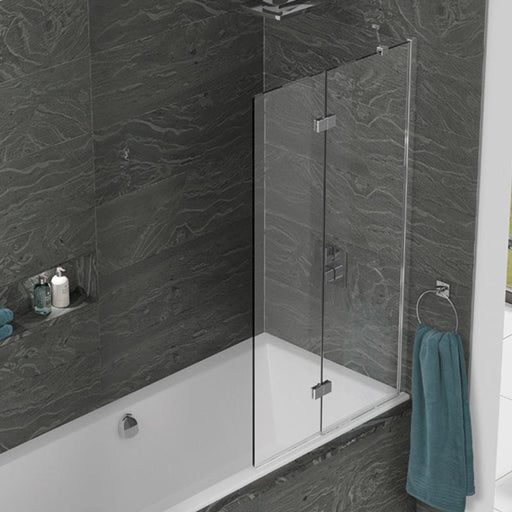 Kudos Inspire Two Panel In-Fold Bath Screen - Unbeatable Bathrooms