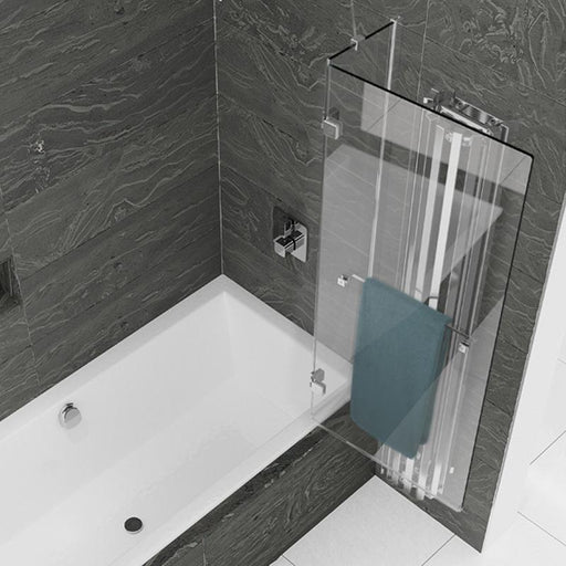 Kudos Inspire Two Panel Out-Swing Bath Screen - Unbeatable Bathrooms