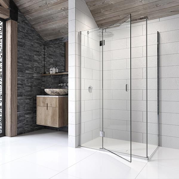 Kudos Side Panel for Corner Hinged Door - Unbeatable Bathrooms