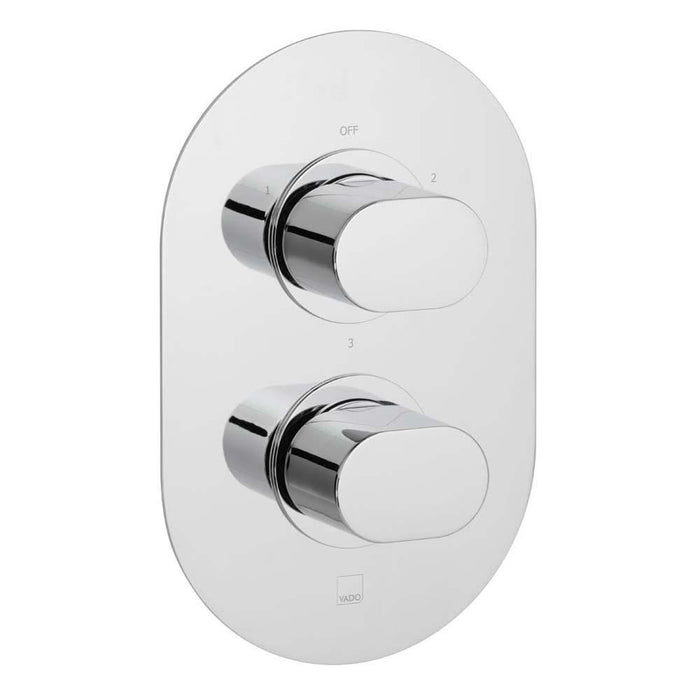 Vado Life Three Outlet Two Handle Wall Mounted Thermostatic Shower Valve - Unbeatable Bathrooms