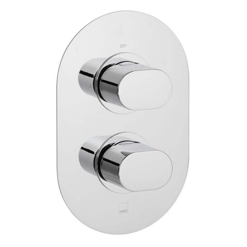 Vado Life One Outlet Two Handle Wall Mounted Concealed Thermostatic Shower Valve - Unbeatable Bathrooms