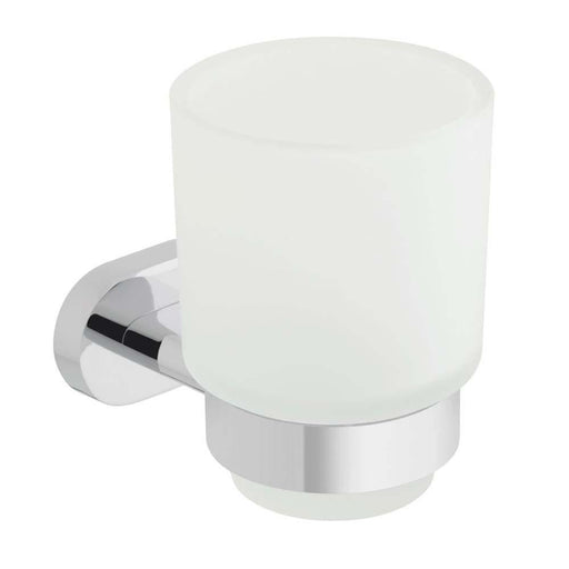 Vado Life Frosted Wall Mounted Glass Tumbler & Holder - Unbeatable Bathrooms