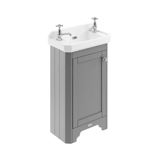 Hudson Reed Old London One Door Vanity Unit With Ceramic Basin - Unbeatable Bathrooms