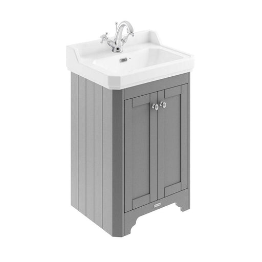 Hudson Reed Old London Two Door Vanity Unit With Ceramic Basin - Unbeatable Bathrooms