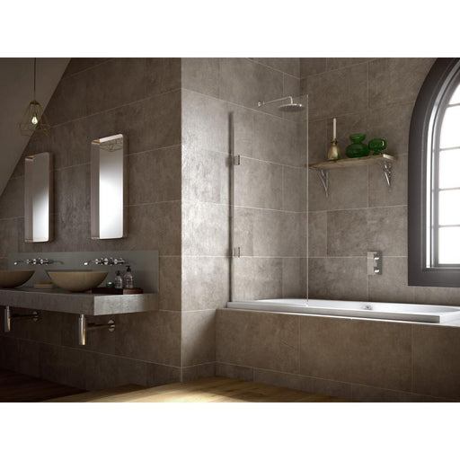 Matki 10mm Silver Clear Single Bath Screen with Glass Guard Easy Clean Protection