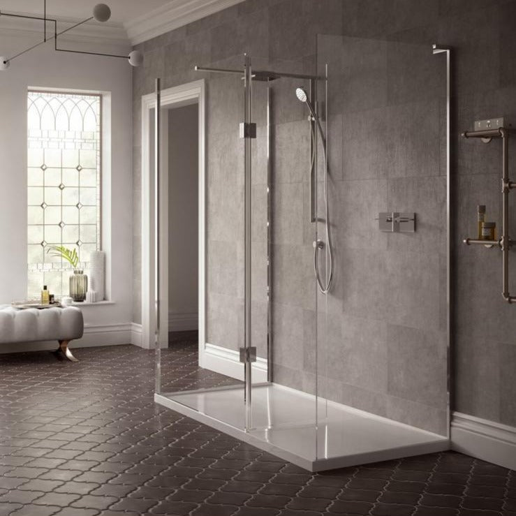 Matki Boutique Three-Sided Walk-In Shower Enclosure with Integrated ...