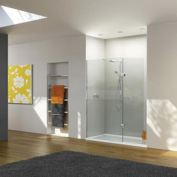 Matki Boutique Walk-In Shower Enclosure for Recess with Integrated ...