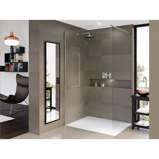 Matki-One Wet Room Panel with Wall Brace Bar - Unbeatable Bathrooms