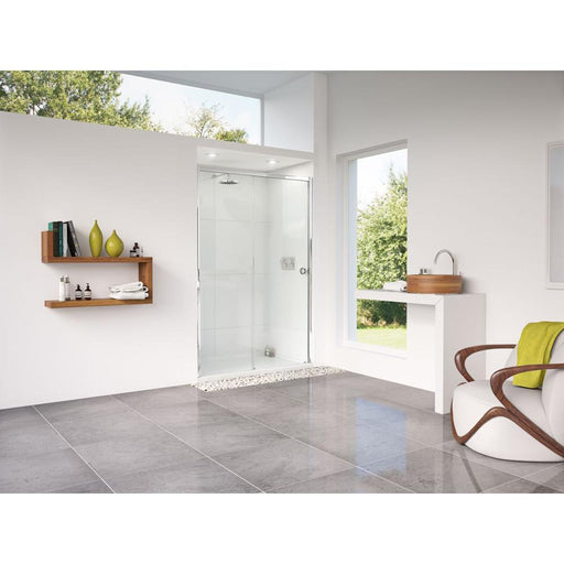 Matki Radiance Straight Sliding Door with Slimline Shower Tray and Glass Guard - Unbeatable Bathrooms