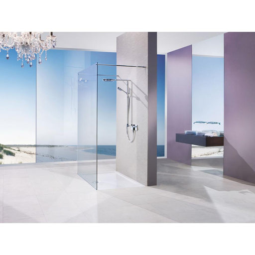 Matki Twin Entrance Wet Room Panel with Glass Guard