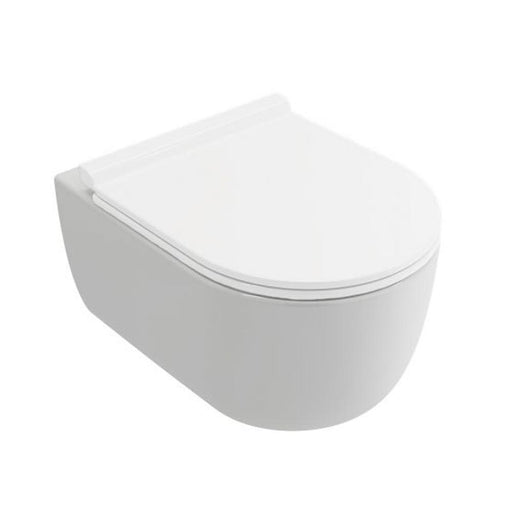 Mere Bathrooms Velino Rimless Short Projection Wall Hung Pan White - Unbeatable Bathrooms