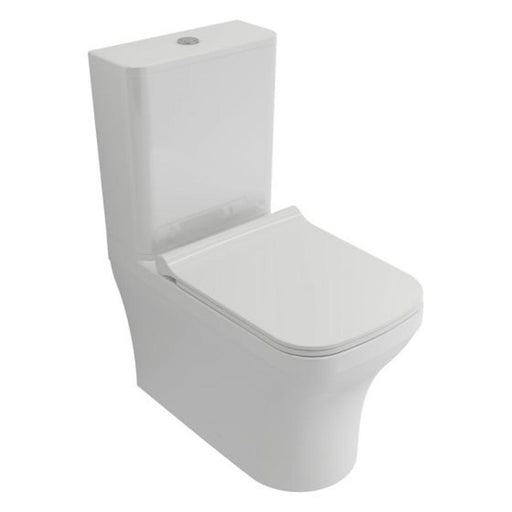 Mere Bathrooms Savuto Rimless Close Coupled Pan, Cistern & Soft Close Seat White - Unbeatable Bathrooms