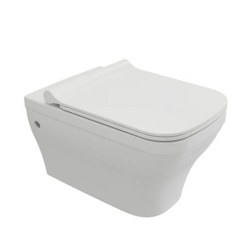 Mere Bathrooms Savuto Rimless Wall Hung Pan & Soft Close Seat White - Unbeatable Bathrooms