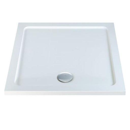 Tissino Coral Square Shower Trays White - Unbeatable Bathrooms