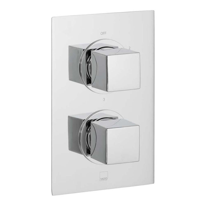 Vado Mix Three Outlet Two Handle Wall Mounted Thermostatic Shower Valve - Unbeatable Bathrooms