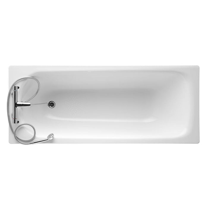 Armitage Shanks Nisa 170cm X 70cm Steel Bath with 2 Tapholes - Unbeatable Bathrooms