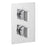 Vado Notion Three Outlet Two Handle Wall Mounted Thermostatic Shower Valve - Unbeatable Bathrooms