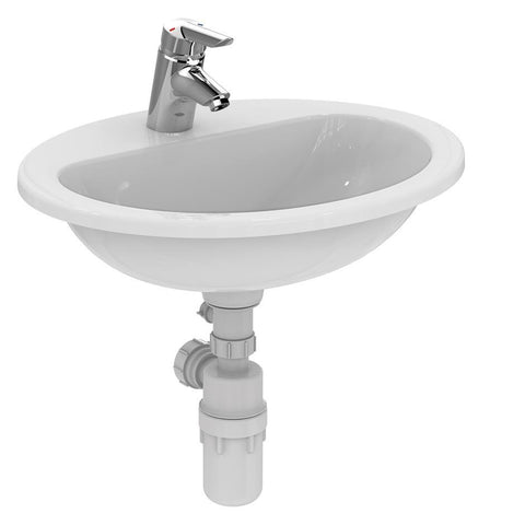 Armitage Shanks Orbit 21 55cm Countertop Basin, No Overflow, No Chainhole - One Taphole - Unbeatable Bathrooms