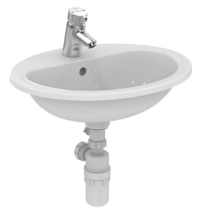 Armitage Shanks Orbit 21 55cm Countertop Basin with Overflow, No Chainhole, One Taphole, No Logo - Unbeatable Bathrooms