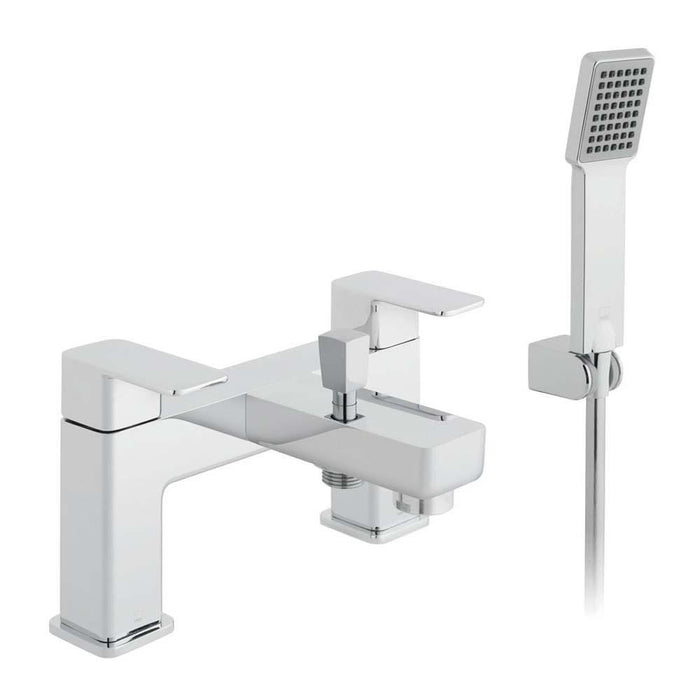 Vado Phase Two Hole Deck Mounted Bath Shower Mixer with Shower Kit - Unbeatable Bathrooms