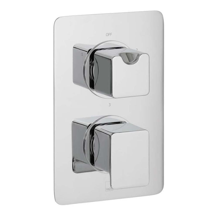 Vado Phase Three Outlet Two Handle Wall Mounted Thermostatic Shower Valve - Unbeatable Bathrooms