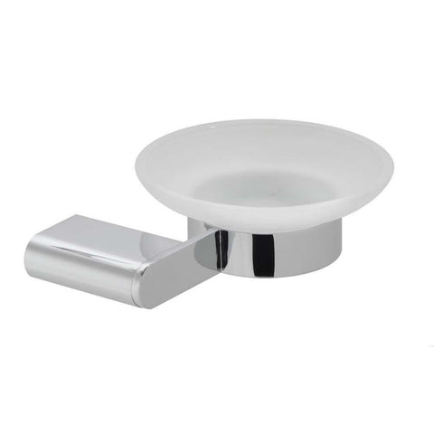 Vado Photon Frosted Glass Wall Mounted Soap Dish & Holder - Unbeatable Bathrooms