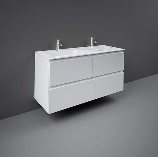 Rak Precious Drop-In 123cm x 47cm Double Wash Basin One Taphole - Unbeatable Bathrooms