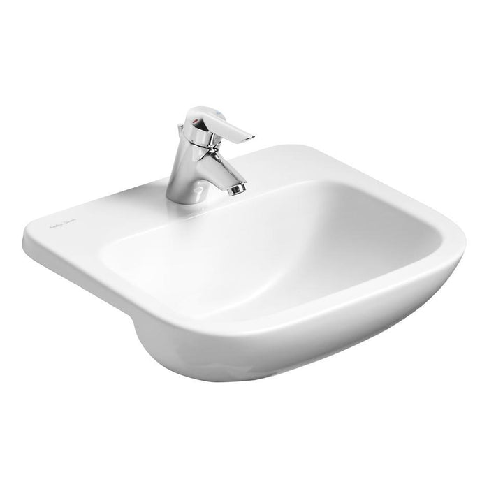 Armitage Shanks Profile 21 50cm Semi-Countertop Basin, No Overflow - One Taphole - Unbeatable Bathrooms